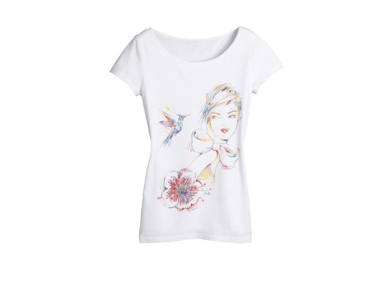 T-shirt z minikolekcji Antoinette-Fleur dla Camaieu