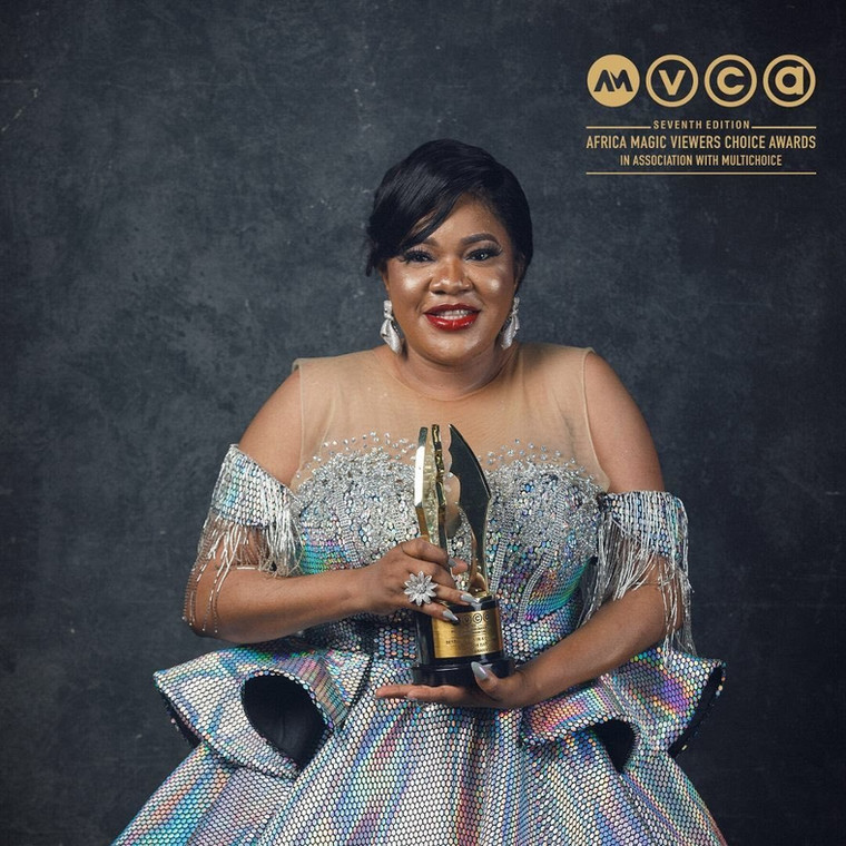 Toyin Abraham won the 'Best Actress in a Drama' category [Instagram/Africamagic]