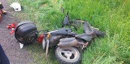Zderzenie motoroweru z autem