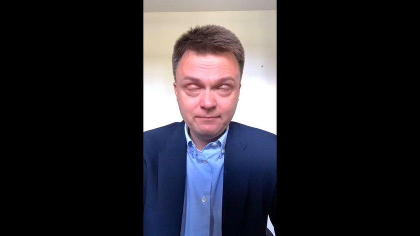 Szymon Hołownia płacze na wizji