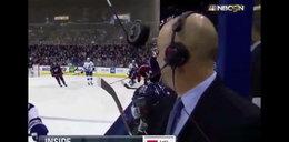 Groźna sytuacja w meczu NHL. Centymetry od tragedii