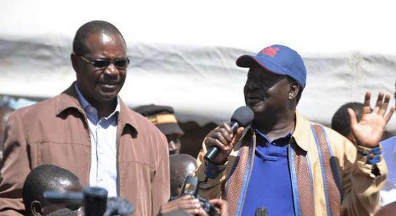 Nairobi Governor Evans Kidero and ODM leader Raila Odinga
