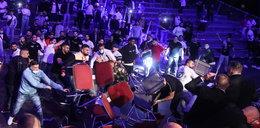 Dzika awantura na gali boksu. Latały krzesła, polała się krew WIDEO