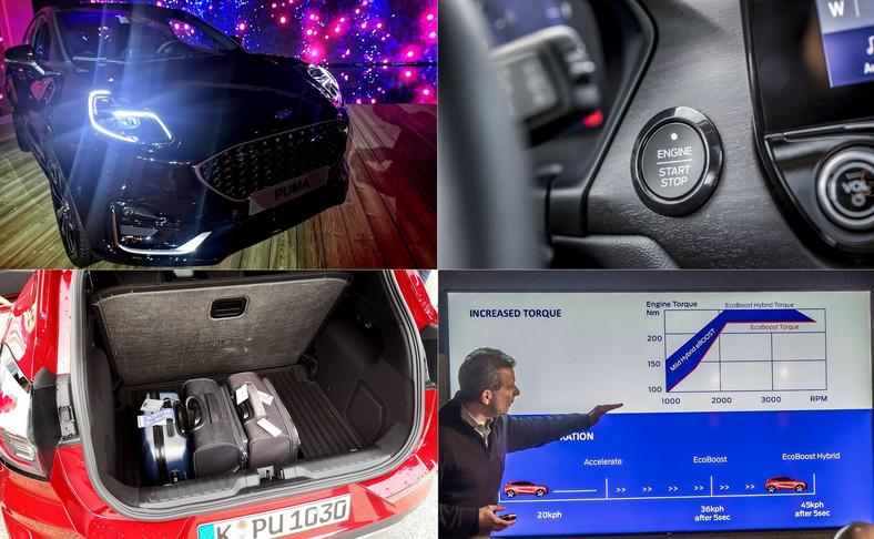 Ford Puma pokazuje, że silnik benzynowy stać na sensacyjny renesans. W jednostkę tchnięto elektryczną iskrę nowego życia. Efekt to więcej momentu obrotowego i bardziej żywiołowa reakcja.W aucie z 45-woltową technologią miękkiej hybrydy w ciągu 5 sekund z 20 km/h można przyspieszyć do 45 km/h. Bez elektrycznego kopniaka auto jest wolniejsze