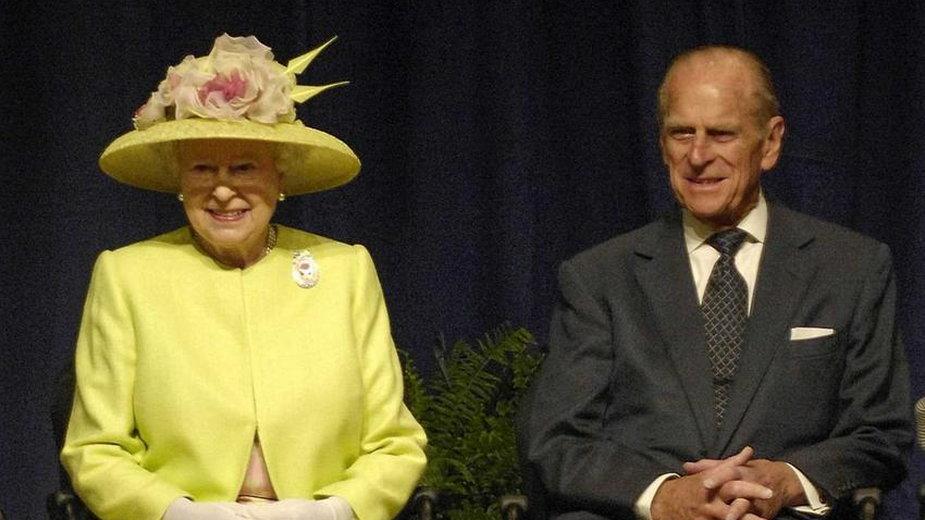 Królowa Elżbieta II z księciem Filipem (2007 rok) -  domena publiczna