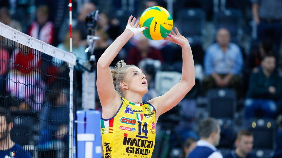 Siatkowka kobiet. LM. LKS Commercecon Lodz - Imoco Volley Conegliano. 22.01.2019