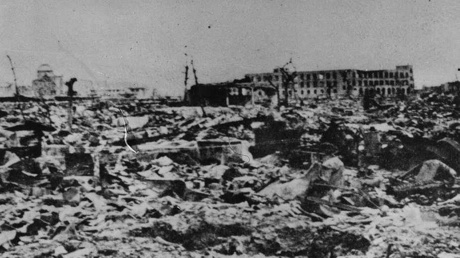 Hiroszima miesiąc po wybuchu bomby. Fot. Getty Images/FPM