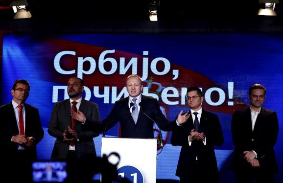 Štab Dragana Đilasa u izbornoj noći