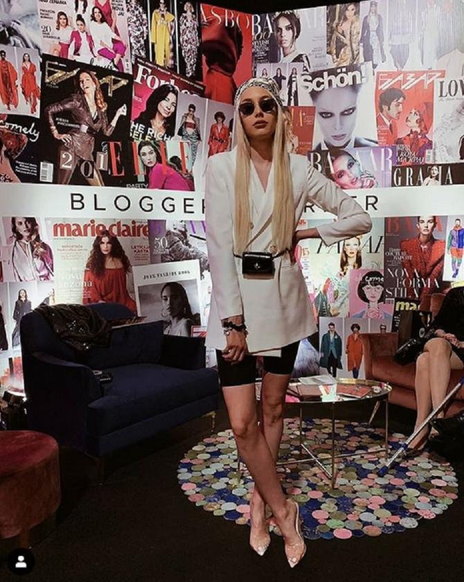Anastasija Grujić u blogerskom uglu na Fešn viku