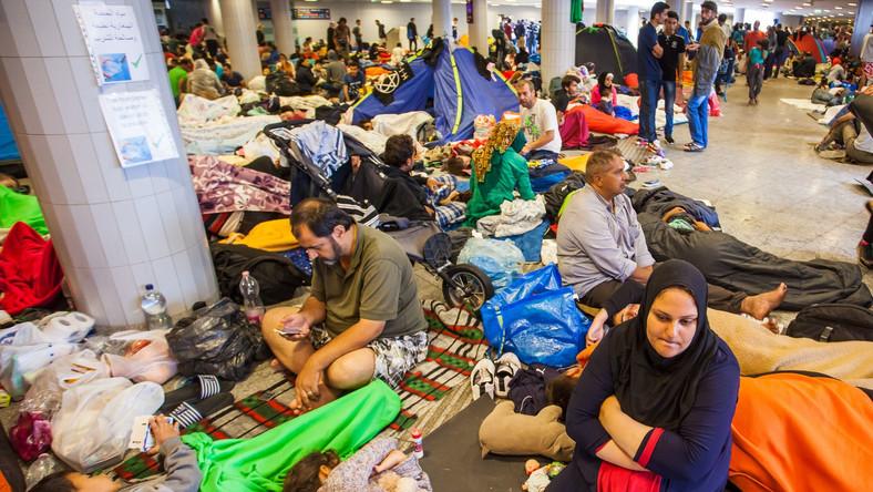 Uchodźcy na dworcu w Budapeszcie