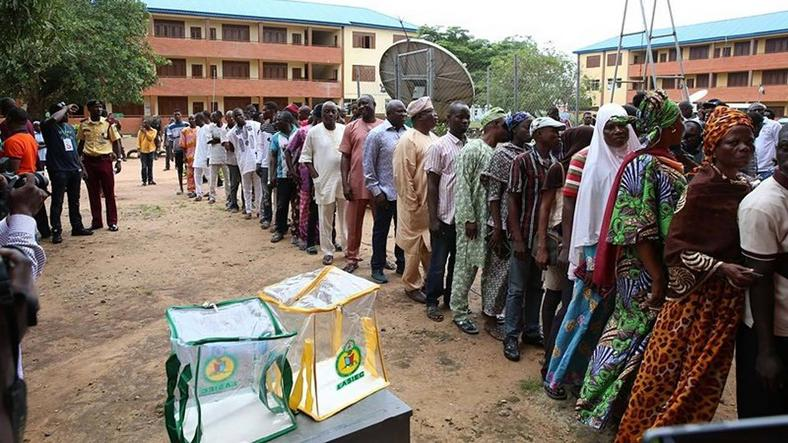 Lagosians line up to cast their votes [Guardian]