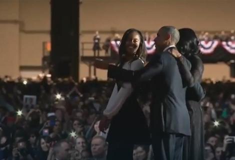 Obama sa ćerkom i ženom