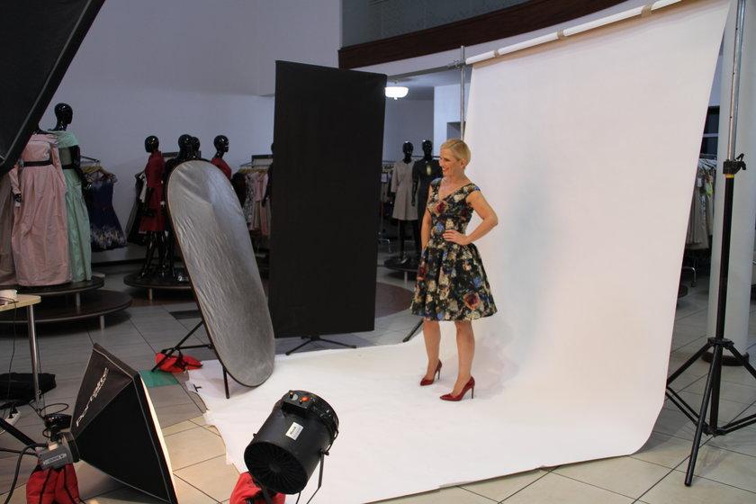 Anna Jurksztowicz w roli modelki