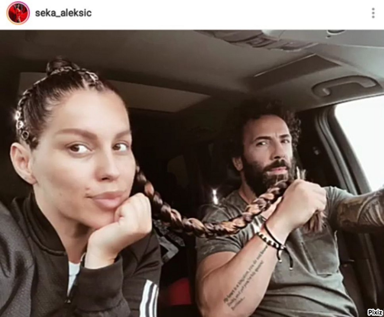 Seka Aleksić i nova frizura