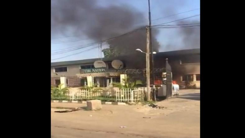 The Nation newspaper head office at Matori , Lagos set on fire (firstnews)