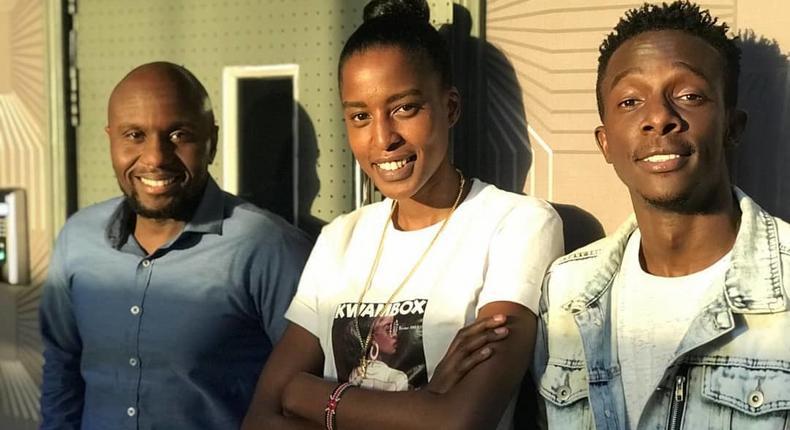 Kerry Martin, Kwambox and Mike Wachira. Sheila Kwamboka lands new job at Vybez radio days after quitting Homeboyz Radio