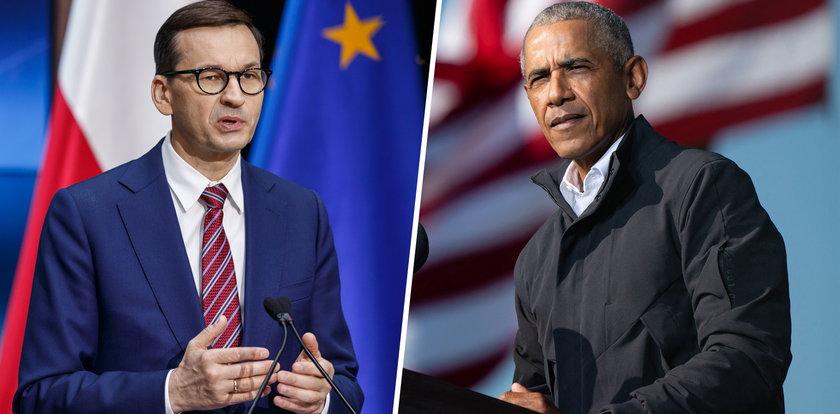 Obama skrytykował polskie władze, premier Morawiecki odpowiada. Ma dla byłego prezydenta USA propozycję