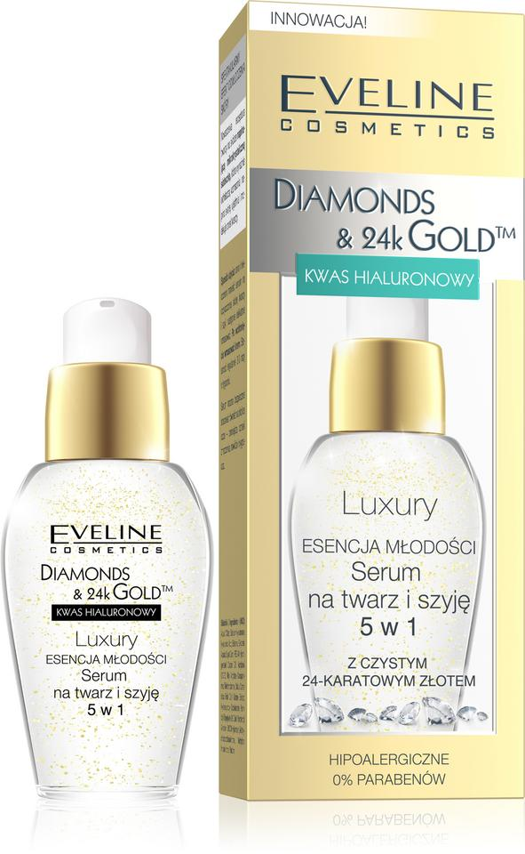 Luxury serum DIAMONDS & 24k GOLD™ 5 w 1 Eveline Cosmetics