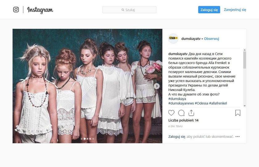 """Skandal na Ukrainie. Dzieci promują """"seksowną bieliznę"""""""
