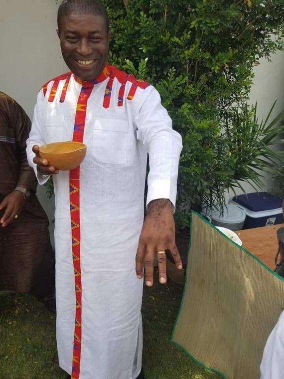 Photos: Nana Akomea, former NPP communications director, grabs wife
