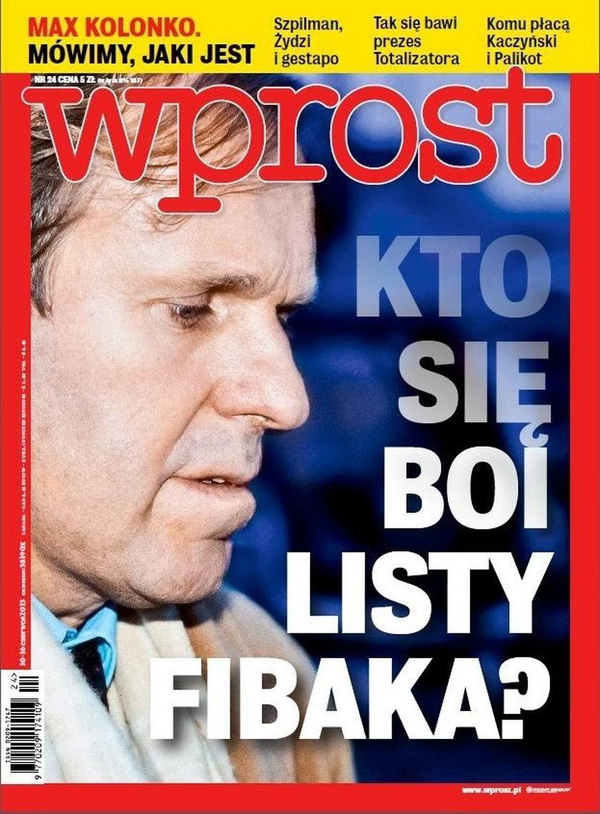 Wprost, Wojciech Fibak