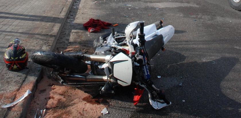To fatum? Motocyklista zginął blisko miejsca, w którym...