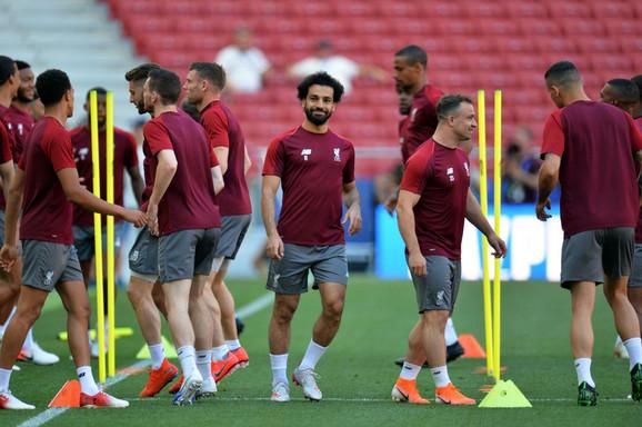 Mohamed Salah je trenirao sa saigračima