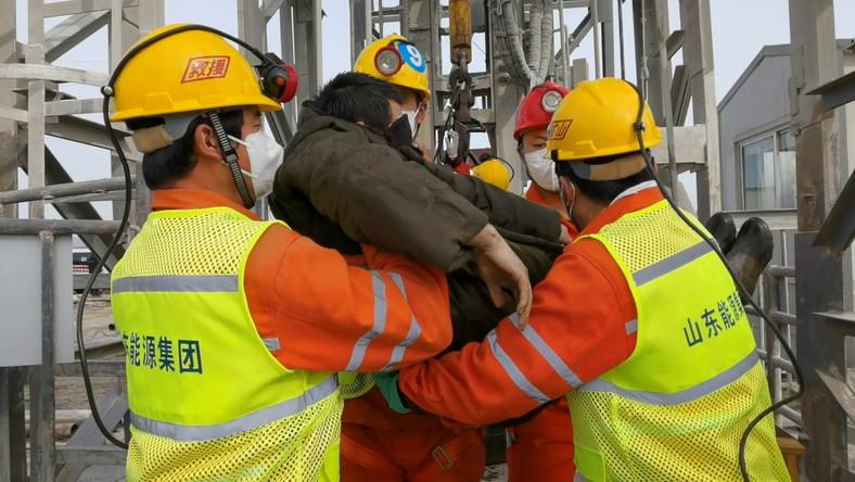 Akcja ratunkowa w chińskiej kopalni