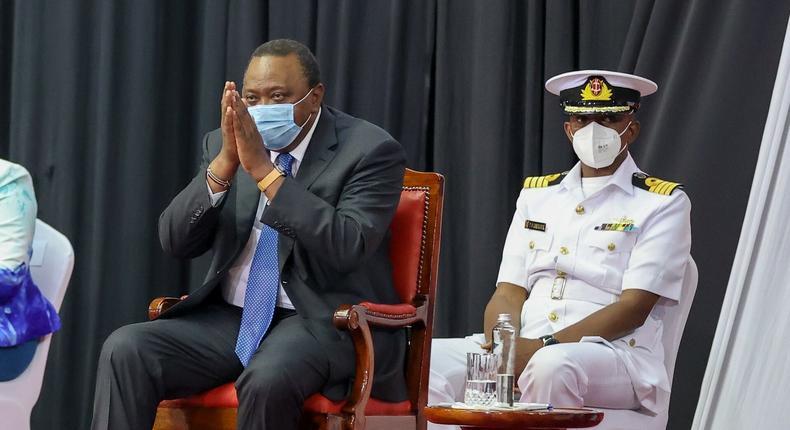 President Uhuru Kenyatta at the KICC