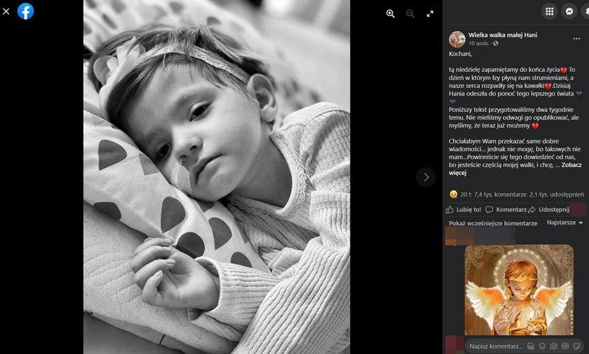 Kielce. Pogrzeb 3-letniej Hani Terleckiej. Do nieba poszybują balony.