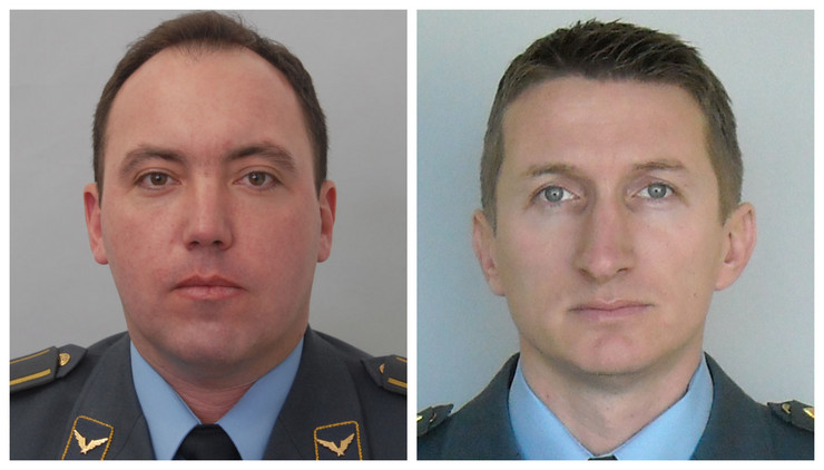 Piloti Dejan Krsnik (levo) Zvonko Vasiljević