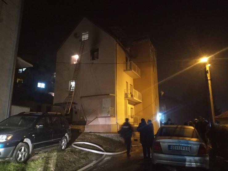 Eksplozija i požar Užice uništena dva stana