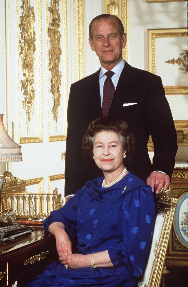 Princ Filip i kraljica Elizabeta 1987.