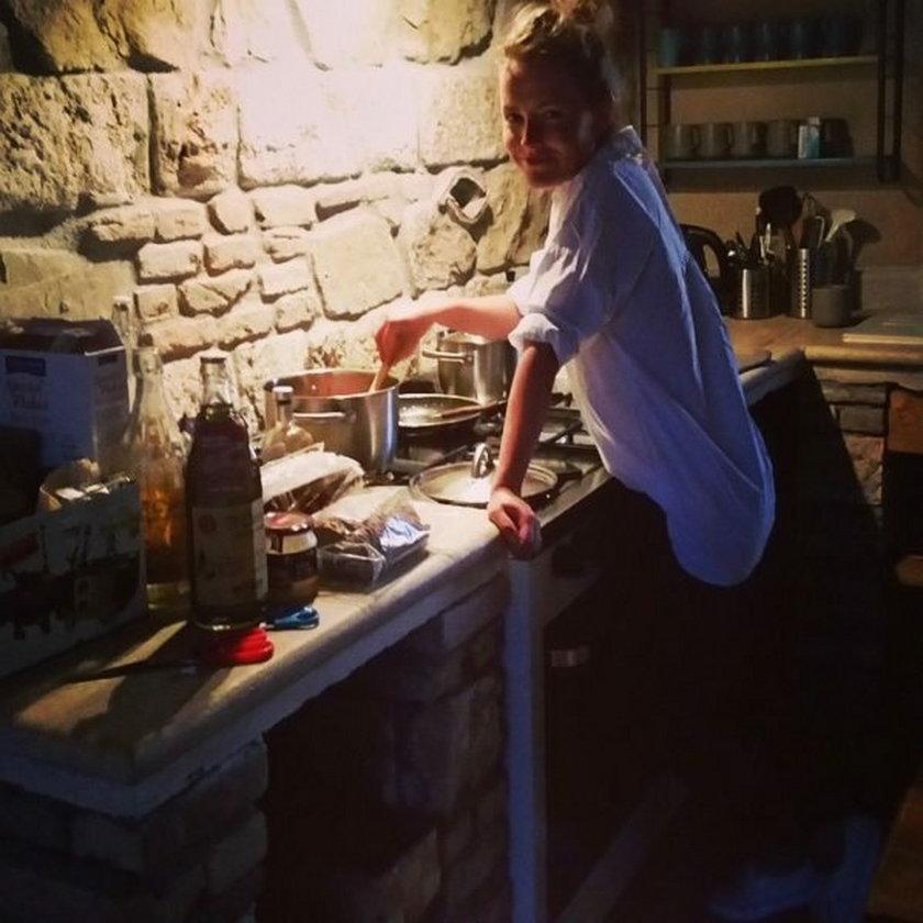 Olga Frycz uwielbia zdrową kuchię