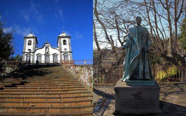 Kościół Matki Boskiej z Monte i pomnik Karola I Habsburga