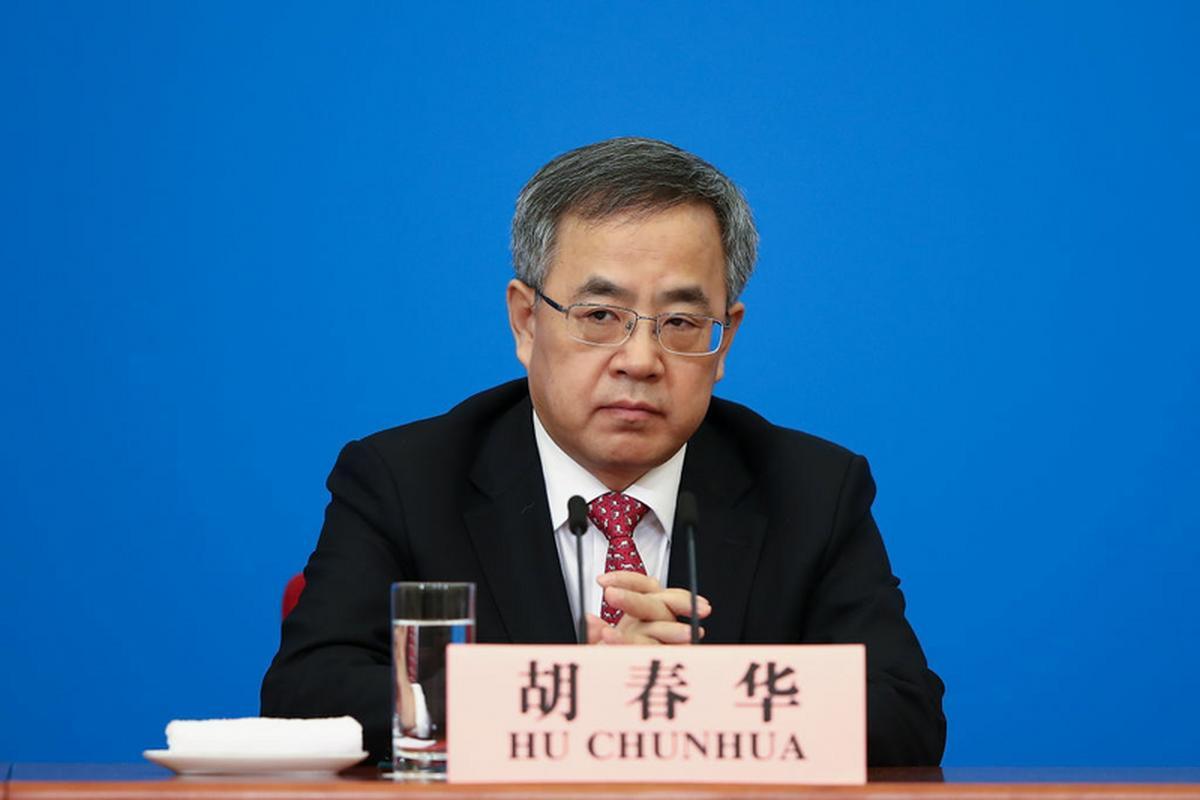 Wicepremier Chin, Hu Chunhua, który odwołał spotkanie z brytyjskim ministrem finansów