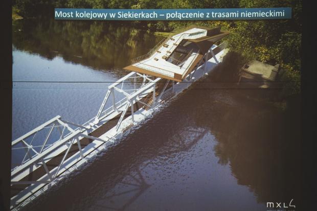 Projekt platformy widokowej na moście w Siekierkach