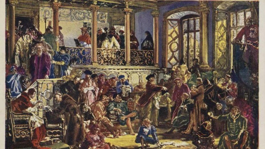 Zloty wiek literatury w XVI wieku autor: Jan Matejko - fot. domena publiczna