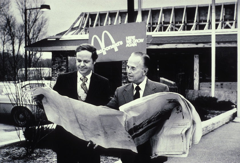 Fred Turner b. 1933 and Ray Kroc 1902-1984 the executive leaders of McDonald's Corporation ca. 1970s
