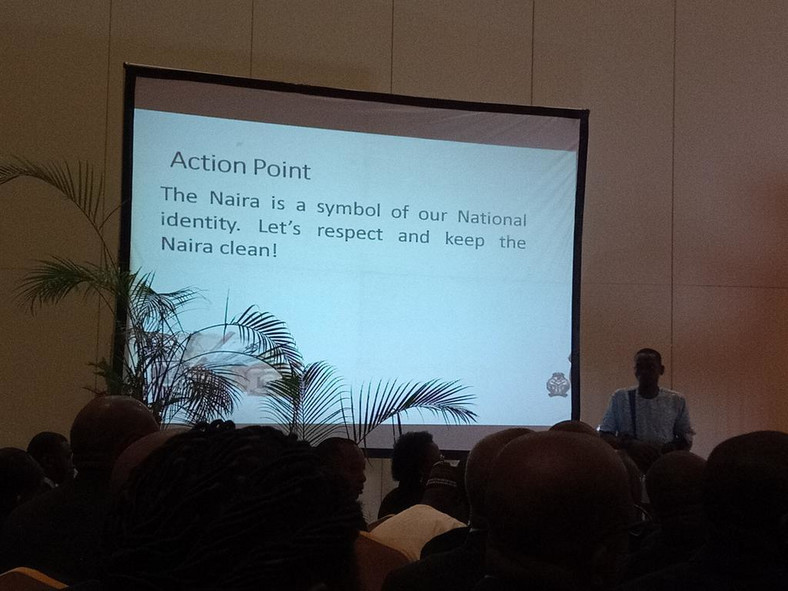 Launching of a CBN Clean Note Policy in Lagos (Twitter/@BabajideKO)