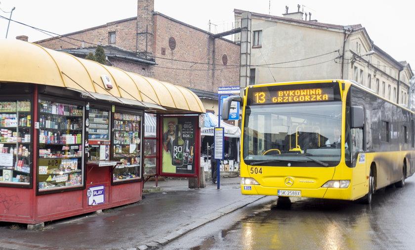Autobus linii 215 w Rudzie Śląskiej