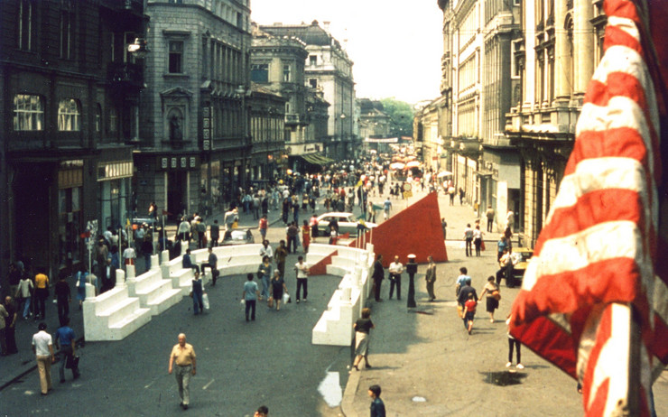 Grupa MEC prostorna instalacija Forum 1982