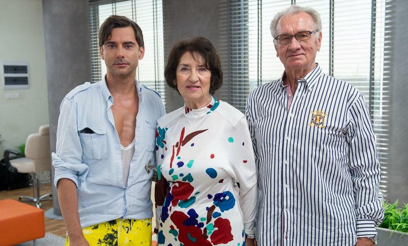 Marcin Tyszka z rodzicami