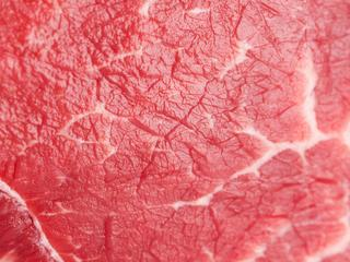 raw beef isolated on white background