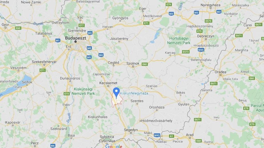 Do wypadku doszło w okolicy miasta Kiskunfalegyhaza