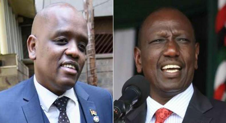 Dennis Itumbi (Left) and DP Ruto (Right)