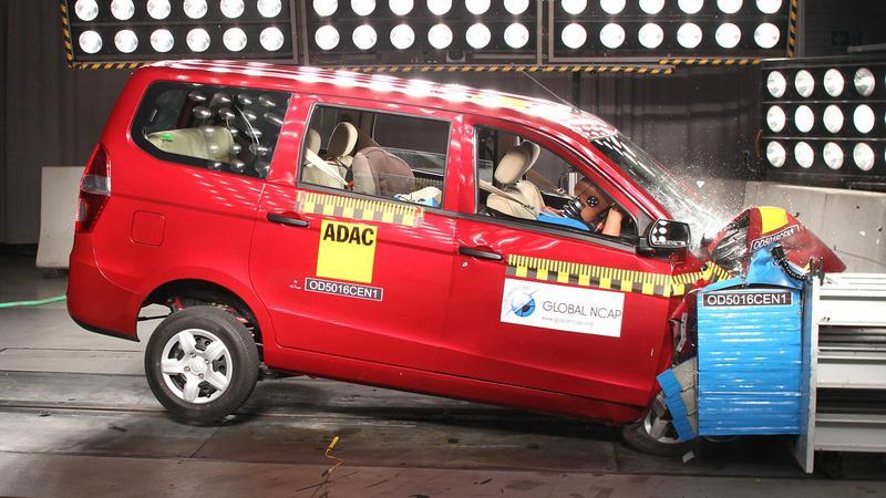 Chevrolet Enjoy w teście zderzeniowym Global NCAP