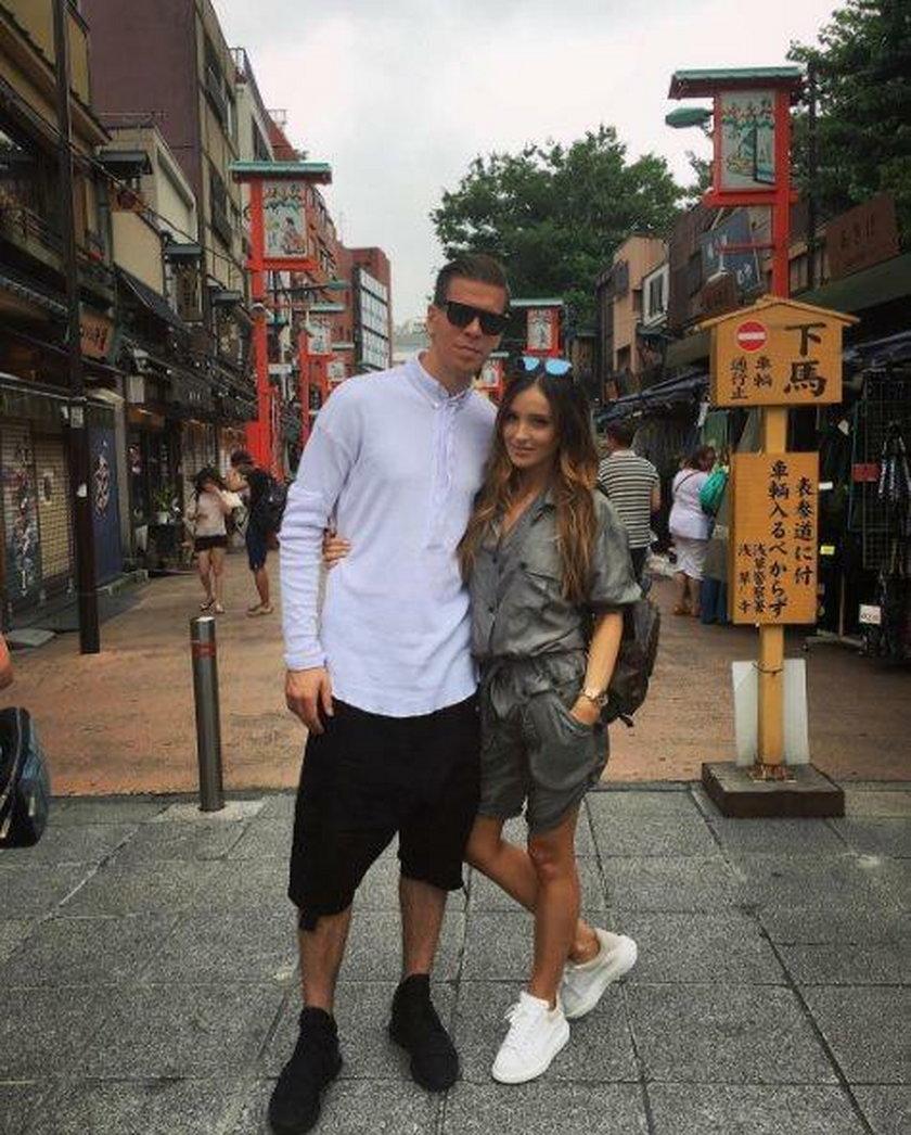 Marina i Wojciech Szczęsny w Japonii