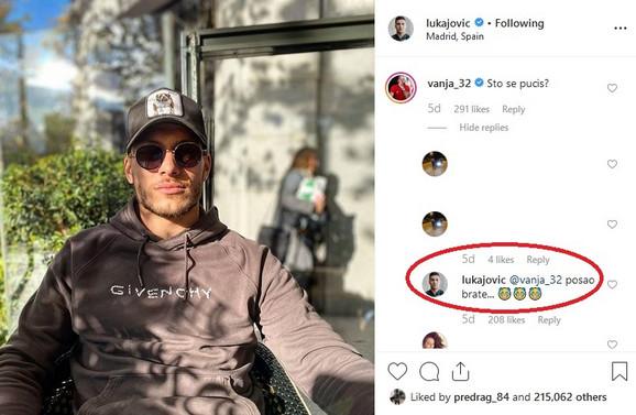 Luka Jović i komentari njega i Vanje Milinkovića Savića o usnama