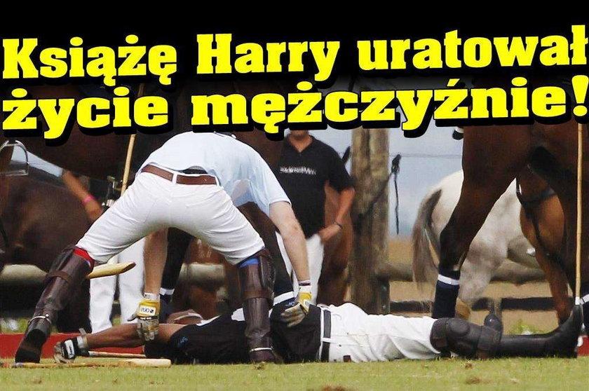 Książę Harry uratował życie mężczyźnie!